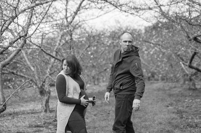 Very cool pregnant couple ©Erika's Way Photography