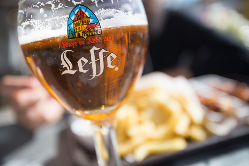 Leffe Belgian Beer and pommes frittes