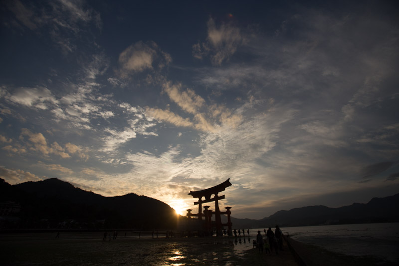 Spectacular Sunset ove the floating Tori at Miyajima island