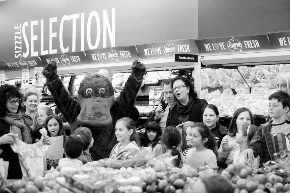 Flash Mob event at Upwey IGA