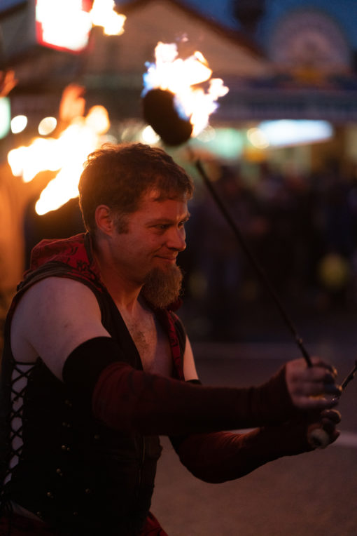 Fire Dancer at the Lantern Parade in Belgrave