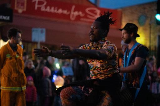 African Dancing at the Belgrave Lantern Parade