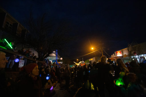 Crowd at the annual Belgrave Lantern Parade