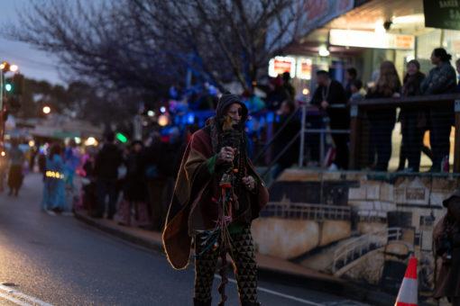 Baba Desy head of the annual Lantern Parade in Belgrave