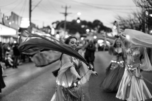 Belly Dancer at the Lantern Parade