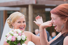 High-five with the Bride! © Erika's Way Photography