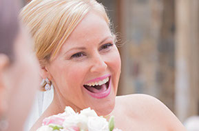 There's nothing like a happy bride. © Erika's Way Photography