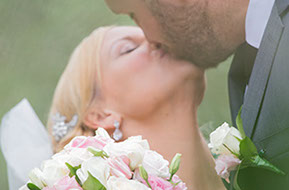 A kiss in the Olive Grove. © Erika's Way Wedding Photography in Melbourne