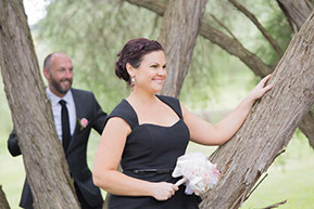 Posing at the Bridal Party © Erika's Way Photography