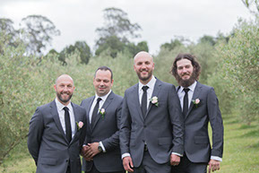 Groom and his best men © Erika's Way Photography