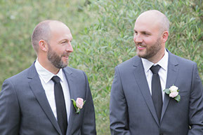 Groom and bestman. © Erika's Way Photography
