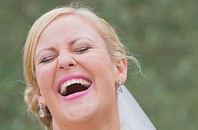 THere's nothing like the smile of a woman, especially on her wedding day. © Erika's Way Wedding Photography in Melbourne