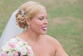 Bride with her tongue out © Erika's Way Photography