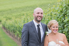 Wedding Photography in the vineyard. Husband and Wife. © Erika's Way Photography