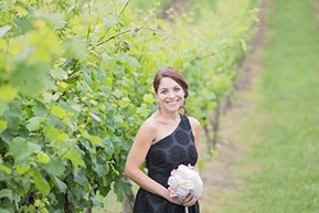 Bridesmaid in the vineyard © Erika's Way Wedding Photography