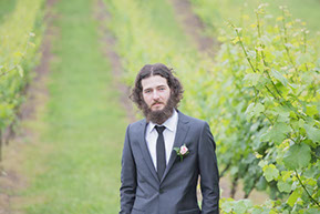 Best man in the vineyard © Erika's Way Photography