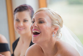 Bride having fun! © Erika's Way Photography