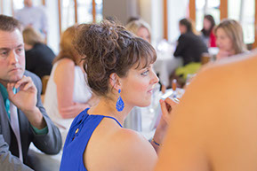 wedding guest in blue © Erika's Way Photography