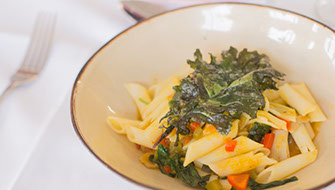 Wedding at Wild Dog Winery: pasta course.  © Erika's Way Photography