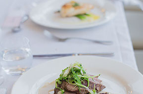 Wedding meal: second course at Wild Dog Winery © Erika's Way Wedding Photography