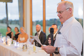Dad's speech © Erika's Way Wedding Photography