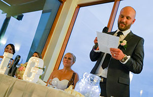 the groom's speech © Erika's Way Photography