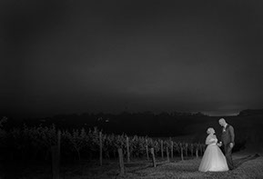 Wedding night shooting in the vineyard at Wild Dog Winery © Erika's Way Photography