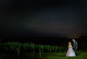 Wedding night photos at Wild Dog Winery © Erika's Way Photography