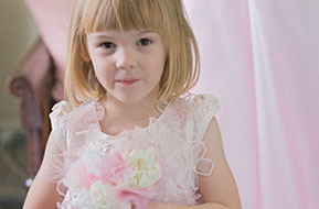 Wedding flower girl © Erika's Way Photography