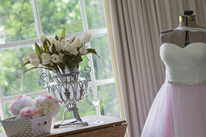 wedding dress light pink tulle © Erika's Way Photography