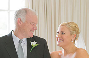 Father and Daughter: the Bride and her Dad. It's such a special moment to share. © Erika's Way Photography