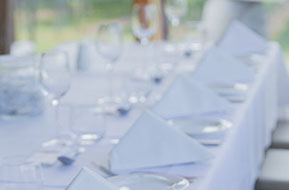 Wedding at Wild Dog Winery. Beautiful and simple table set up. © Erika's Way Photography