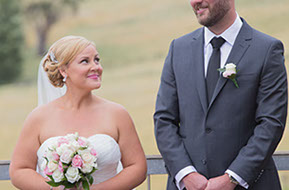 Almast married! Quick exchange of smiles and sweet looks © Erika's Way Wedding Photography Melbourne