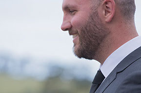 the smile of the Groom © Erika's Way Photography