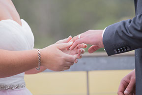 Ring exchange. Wedding at Wild Dog Winery, Warragul. © Erika's Way Photography