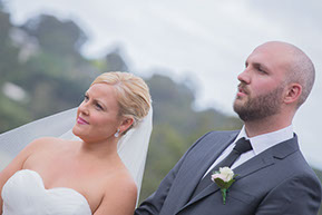 Bride and Groom together © Erika's Way Photography