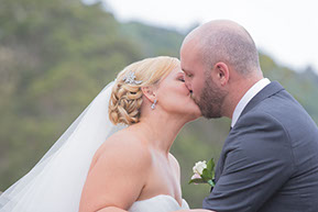 the first kiss as Husband and Wife © Erika's Way Photography