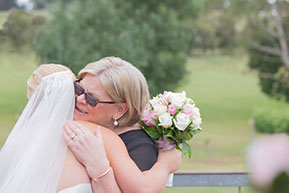 Mum and Bride's hugging. Moments you don't want to forget. :) © Erika's Way Wedding Photography