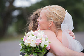 Hugging the Bride © Erika's Way Photography