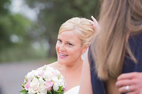 The Bride, stunning and smiling. © Erika's Way Photography