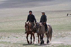 Kids with heards in western Mongolia
