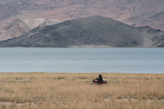 local bike-riding in Mongolia