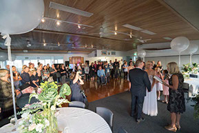 Wedding Ceremony at Safety Beach Sailing Club, Safety Beach, Vic. © Erika's Way Photography