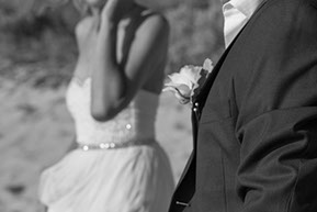 Bride and Groom black and white detail. Mornington Peninsula © Erika's Way Photography