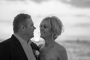 Husband and Wife black and white at sunset © Erika's Way Photography