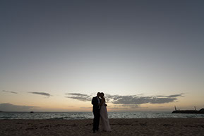 husband and wife siluette at Safety Beach, Mornington Peninsula, Vic. © Erika's Way Photography