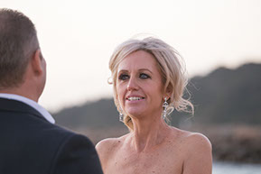 Wife looking at her Husband. Wedding photography in Mornington Peninsula © Erika's Way Photography