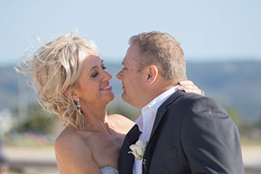 Bride and groom affinity at Safety Beach, Mornington Peninsula, Vic.© Erika's Way Photography