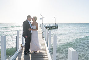 The bride and the Groom. Wedding in Mornington Peninsula, Vic. © Erika's Way Photography