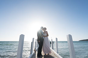 Bride and Groom just before the Wedding at the beach, Mornington Peninsula © Erika's Way Photography